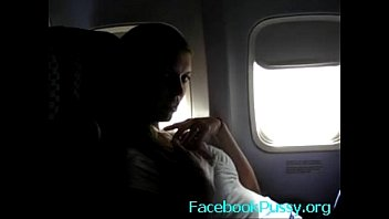 Blonde Masturbate Pussy in the Airplane - Hot Solo