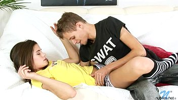 Petite teen with meaty cunt lips having sex